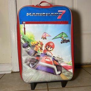 "Nintendo Mario Kart 7 18"" Rolling Luggage Suitcase"
